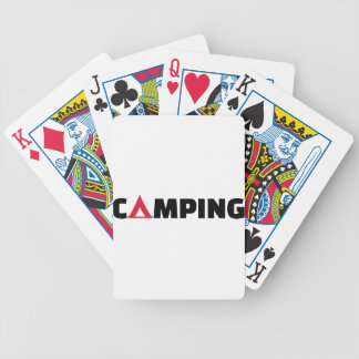 Camping tent card deck