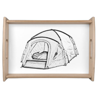 """Camping tent"" design serving trays"