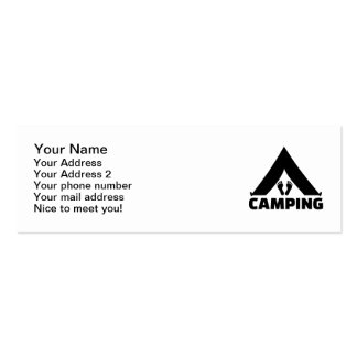 Camping tent feet business card templates