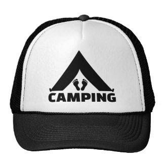 Camping tent feet mesh hat