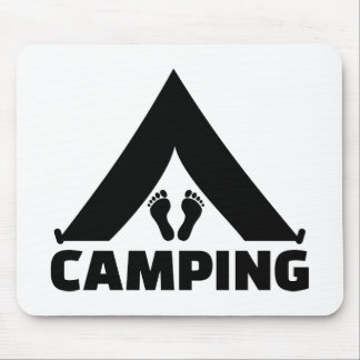 Camping tent feet mouse pad