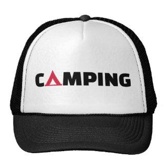 Camping tent trucker hat