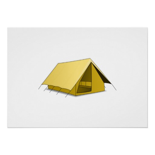 Camping Tent Poster