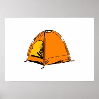 Camping Tent Print