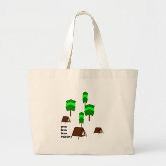 Camping tents  #grow trees envioement theme jumbo tote bag