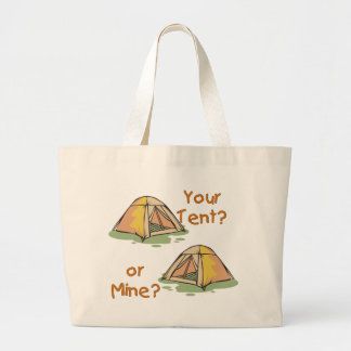 Camping Tents Large Tote Bag