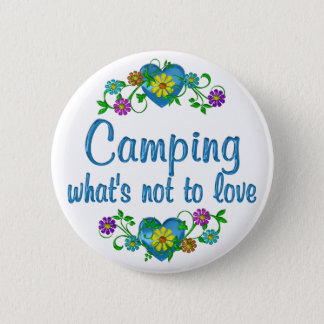 Camping to Love 6 Cm Round Badge