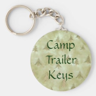 Camping Trailer Keys in the Pine Trees Keychain
