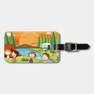 Camping Travel Bag Tag