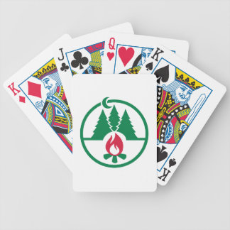 Camping trees campfire card deck