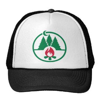 Camping trees campfire mesh hats