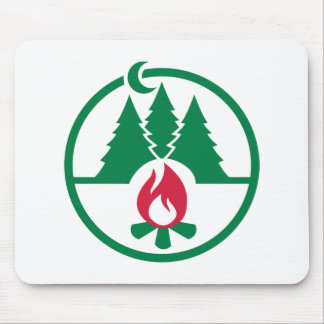 Camping trees campfire mousepad