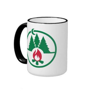 Camping trees campfire mug