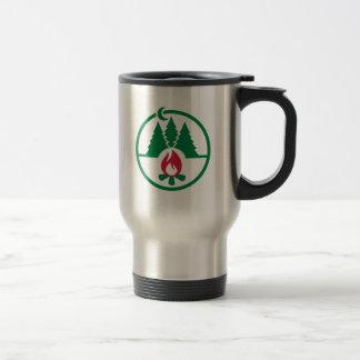 Camping trees campfire mugs