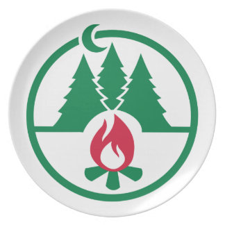 Camping trees campfire plate