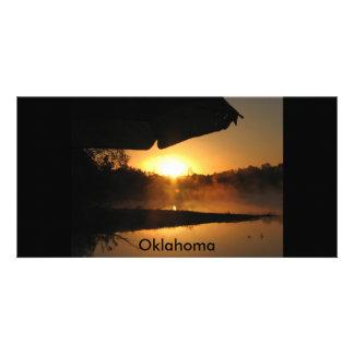 camping trip, Oklahoma Customized Photo Card