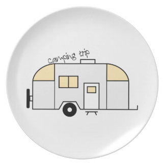 Camping Trip Plate