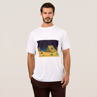 Camping Under The Night Sky Mens Active Tee