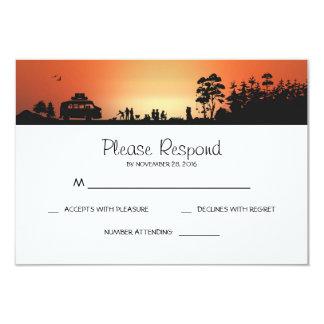 Camping Wedding RSVP Cards 9 Cm X 13 Cm Invitation Card