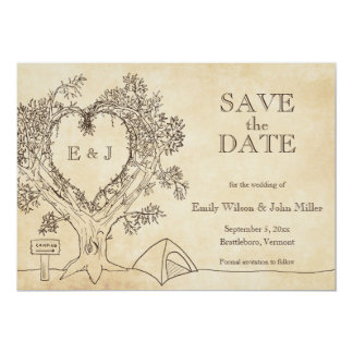 Camping Wedding Save the Date Announcements
