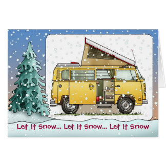 Campmobile Van Camper Holiday Cards