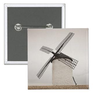 Campo de Criptana, antique La Mancha windmills 3 15 Cm Square Badge