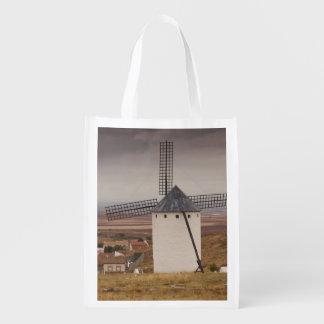 Campo de Criptana, antique La Mancha windmills 4 Reusable Grocery Bag