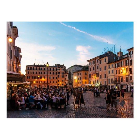 Campo de' Fiori Rome Postcard | Sunset