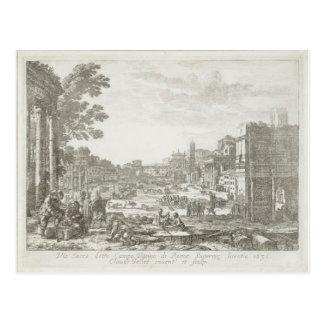 Campo Vaccino (Forum Romanum) by Claude Lorrain Postcard