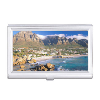 Camps Bay Beach And The Twelve Apostles Range Business Card Holder