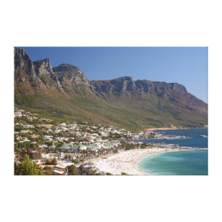 Camps Bay Beach And Twelve Apostles Gallery Wrapped Canvas