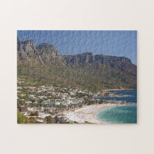Camps Bay Beach And Twelve Apostles Jigsaw Puzzle