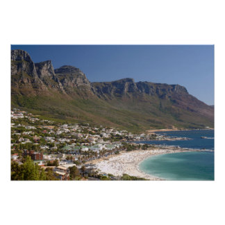Camps Bay Beach And Twelve Apostles Poster