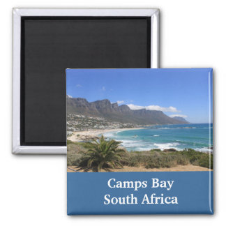 Camps Bay Beach, South Africa Square Magnet