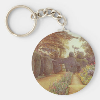 Campsea Ashe, Suffolk by Ernest Arthur Rowe Basic Round Button Key Ring