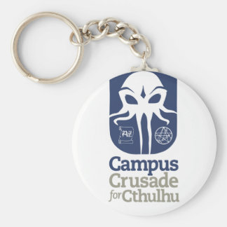Campus Crusade for Cthulhu Basic Round Button Key Ring