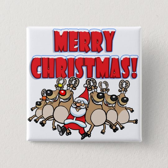 CAN CAN Merry Christmas! 15 Cm Square Badge