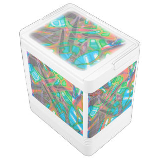 Can Cooler Colorful Stained Glass Igloo Cool Box
