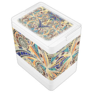 Can Cooler Drawing Floral Igloo Cooler