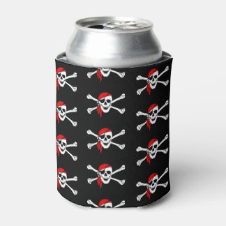 Can Cooler-Pirate Skull Can Cooler