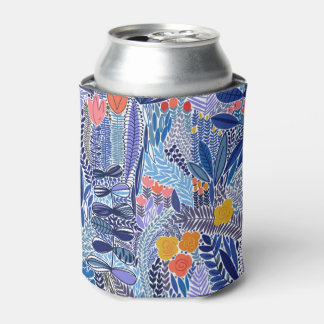 Can cooler vintage blue leaves Exotico