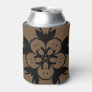 Can cooler : vintage Floral edition / brown