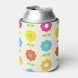 Can cooler vintage Flowers