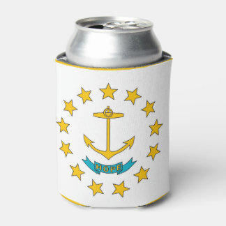 Can Cooler with flag of Rhode Island, USA.
