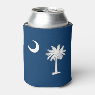 Can Cooler with flag of South Carolina State, USA.