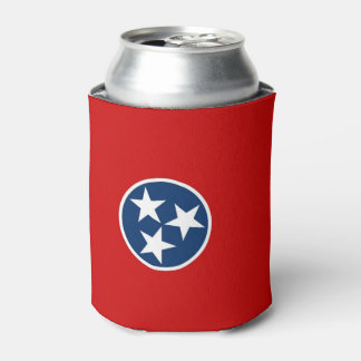 Can Cooler with flag of Tennessee State, USA.