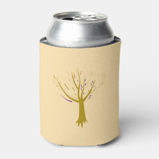 Can cooler with gold tree
