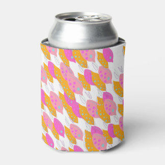 Can cooler with lemons pink gold