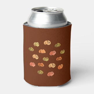 Can cooler with pumpkins
