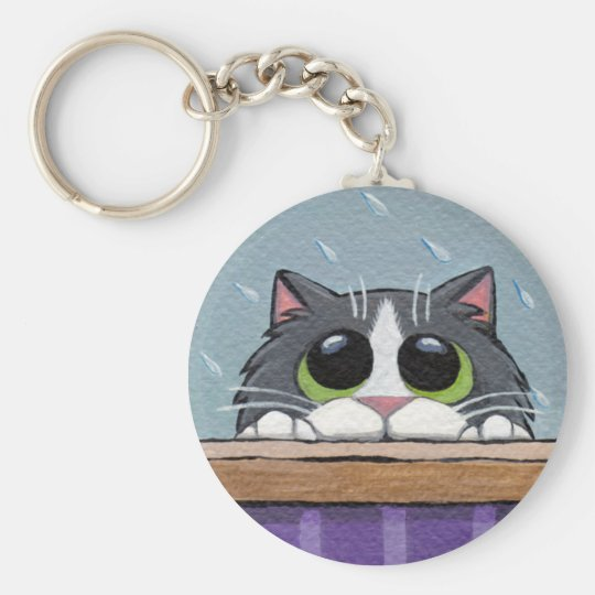 Can I Come In? v.2 - Cat Keychain